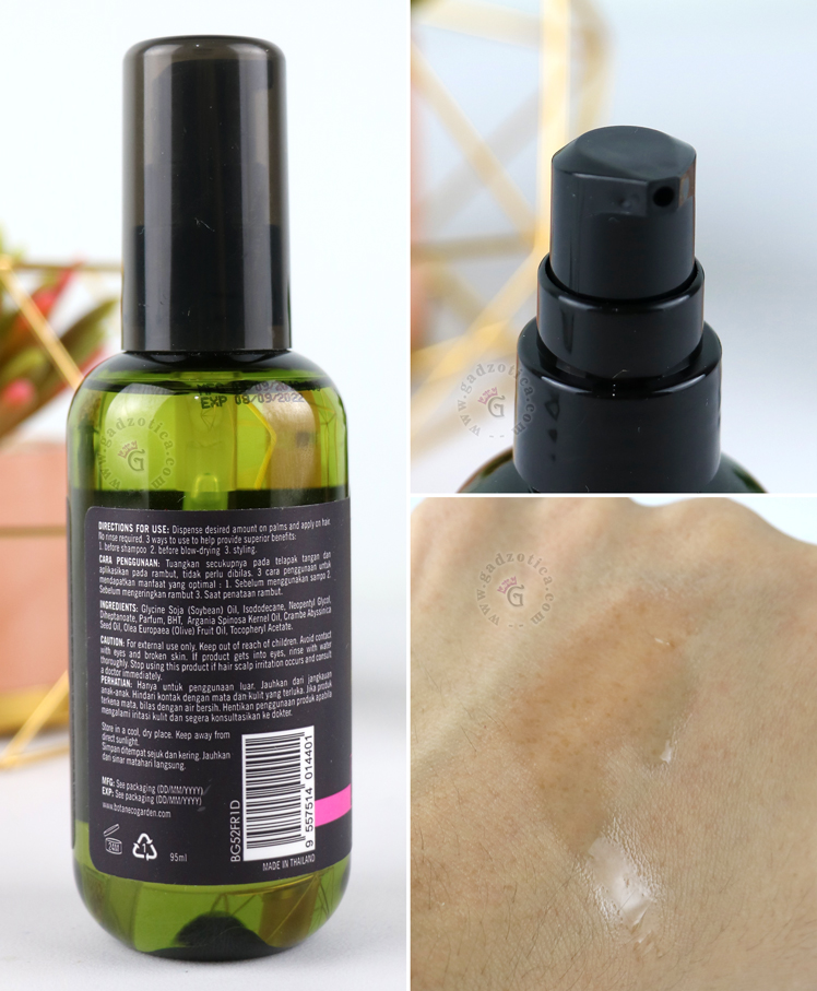 BOTANECO GARDEN ORGANIC ARGAN & VIRGIN OLIVE OIL HAIR SERUM REVIEW