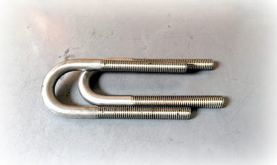 Custom 1/2 U Bolts In 316 Stainless Steel Material - 2 Inches Center To Center & 5-1/4 Inches In Length