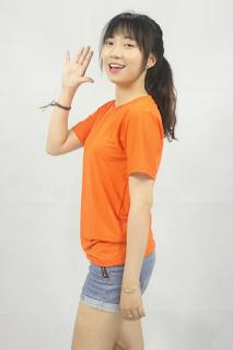 áo phông trơn màu cam
