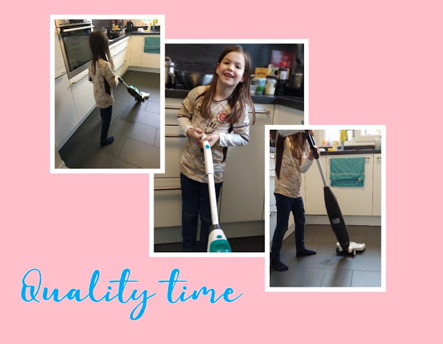 Quality Time auch für Kinder mit dem Akku-Saugwischer von Leifheit