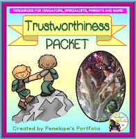 A Trustworthy Teaching Packet with posters, lessons, and printables.