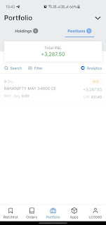 screenshot of zerodha profit