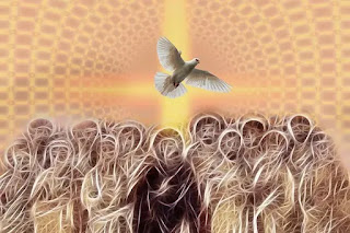 We receive the promised holy Spirit when we believe in Christ.