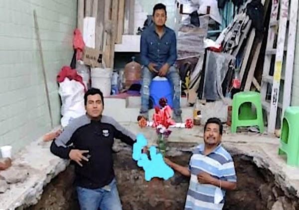 Don Melitón era albañil, celebró el día de la Santa Cruz con sus hijos, murió en el Metro