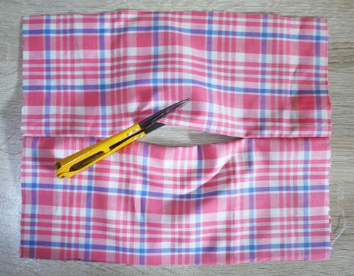 cara membuat masker kain dengan tempat tissue
