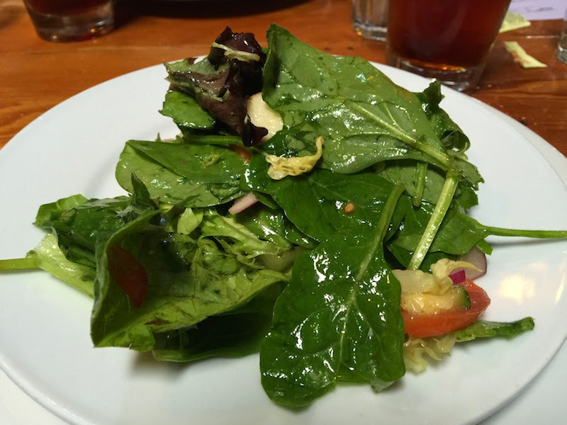 Salad greens with spinach at Il Vecchio's Worker's Lunch