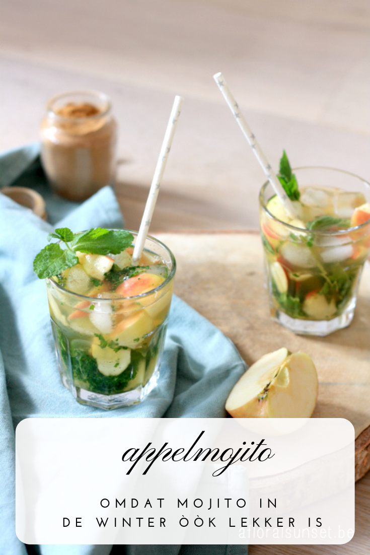 Appelmojito - a floral sunset