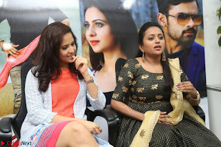 Actress Suma in Black Salwar Suit and Anusuya in orange Dress at winner movie press meet part 2 February 2017 (19).JPG