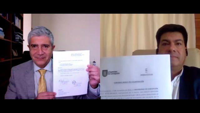 Rectores Carlos Saavedra y Óscar Garrido