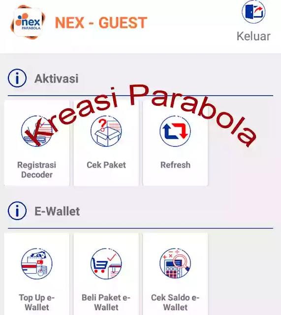 Cara Refresh Receiver Nex Parabola Melalui Aplikasi
