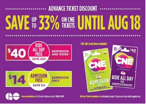 CNE Advance Tickets Discount Up To 33% Off