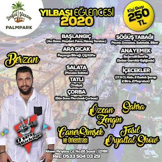 doğal yaşam palm park izmir yılbaşı programı 2020