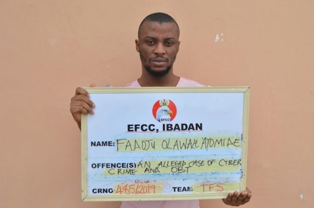 Internet fraudster Olawale Ayomide Fadoju sent to jail by Justice Joyce Abdulmalik of the Federal High Court