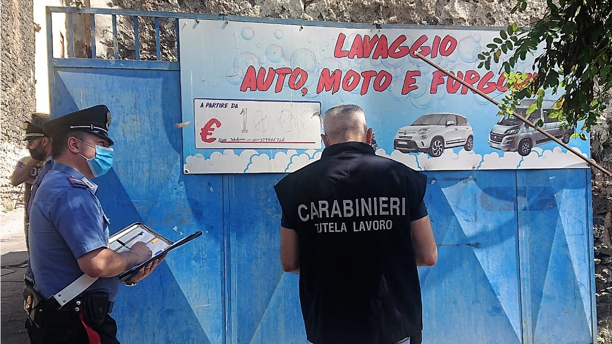 Contorlli San Cristoforo Carabinieri autolavaggio