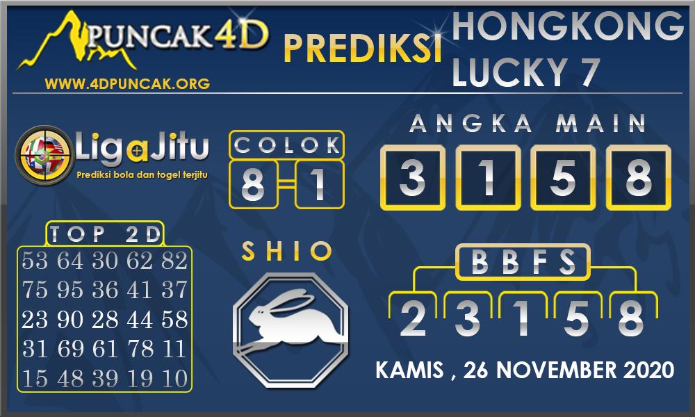 PREDIKSI TOGEL HONGKONG LUCKY 7 PUNCAK4D 26 NOVEMBER 2020
