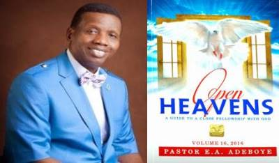 Open Heavens 29 November 2016: Fearless Messenger ? ~ Pastor E. A. Adeboye