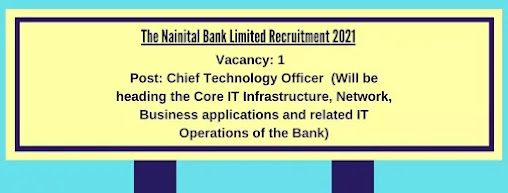 Apply For Chief Technology Officer Post in Nainital Bank