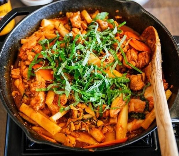 DAK GALBI (KOREAN SPICY CHICKEN STIR FRY) #dinner #meals