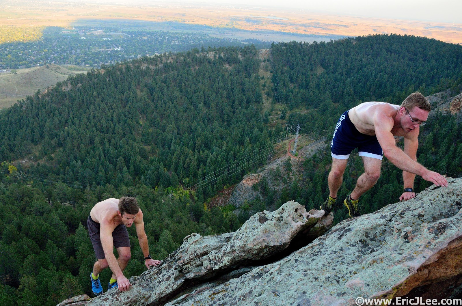 Naked Women Rock Climbing
