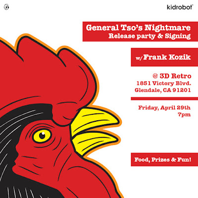 General Tso's Nightmare Vinyl Figure by Kozik x Kidrobot Release Party at 3D Retro