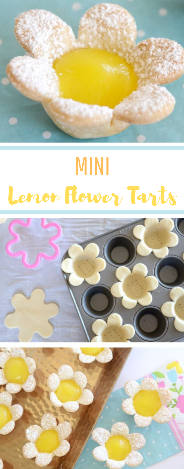 Mini Lemon Flower Tarts #easyrecipe #desserts
