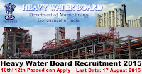 Heavy Water Board Recruitment 2015