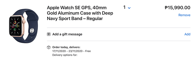 Watch SE in 40mm with Sport Band