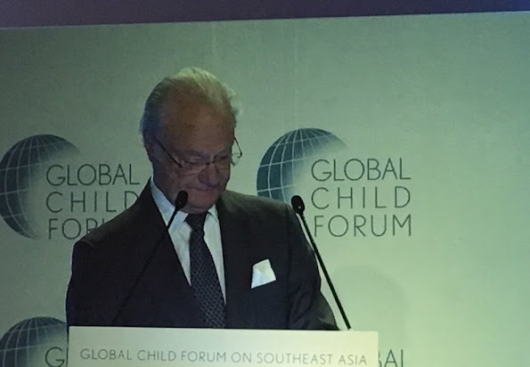 King Gustaf and Queen Silvia attended the opening session of Global Child Forum on South East Asia that was held in Kuala Lumpur