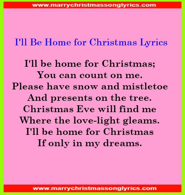 I'll Be Home for Christmas Lyrics Image