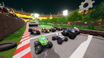 Blaze And The Monster Machines Axle City Racers Game Screenshot 3