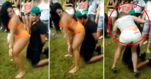 Novia celosa se lanza sobre su novio cuando otra le baila