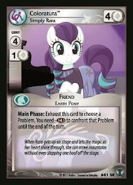 My Little Pony Coloratura, Simply Rara Defenders of Equestria CCG Card