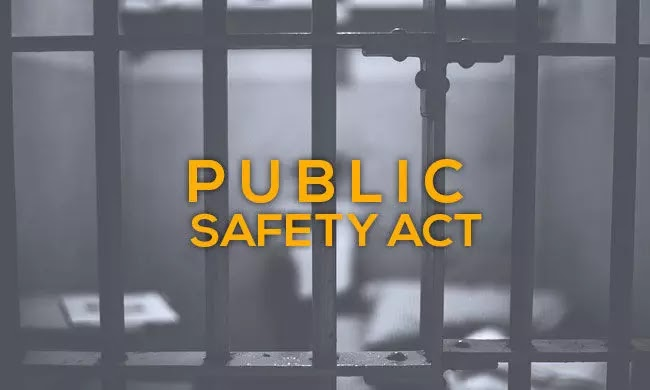 PUBLIC SAFETY ACT, Daily Current Affairs: 18th September 2019