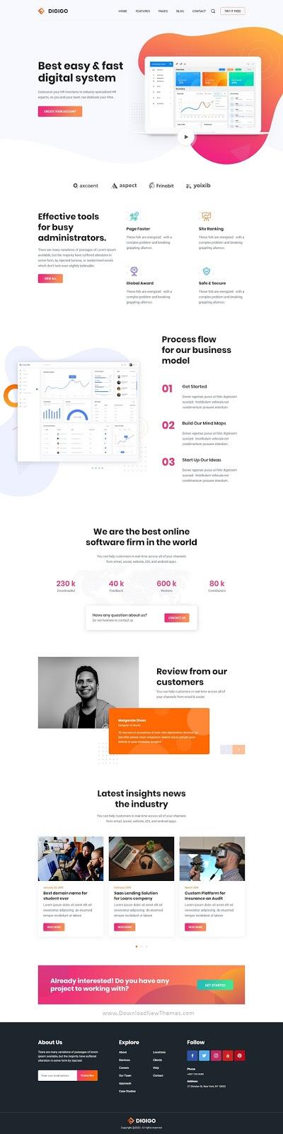 Landing Page UI Template