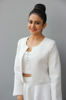Rakul Preet Singh Stills in White Stylish Dress at International Phenomenon Sensation Press Meet ~ Celebs Next