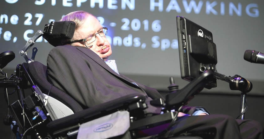 Stephen Hawking en el festival científico Starmus 2016