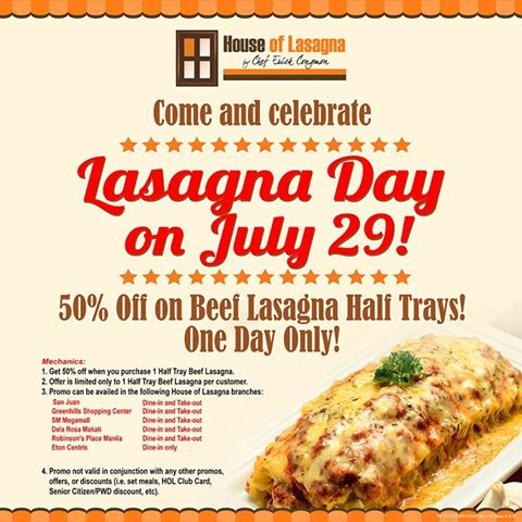 50 off house of lasagnas beef lasagna half tray the daily talks get house of lasagnas beef lasagna half tray at 50 off available for both dine in and take out hurry invite your loved ones for a lasagna feast altavistaventures Images