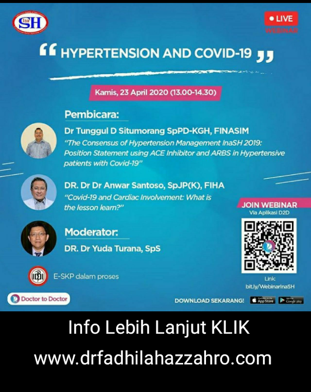 "Free SKP IDI: Webinar ""Hypertension and Covid-19"" via Aplikasi D2D"
