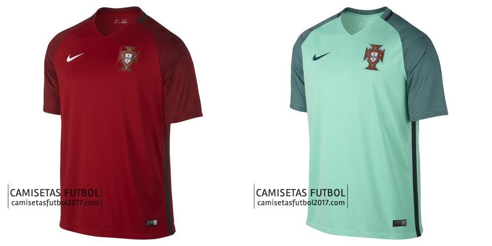cc6218d90c805 La nueva segunda camiseta Portugal Eurocopa 2016 combina la cerceta colores  y la marina