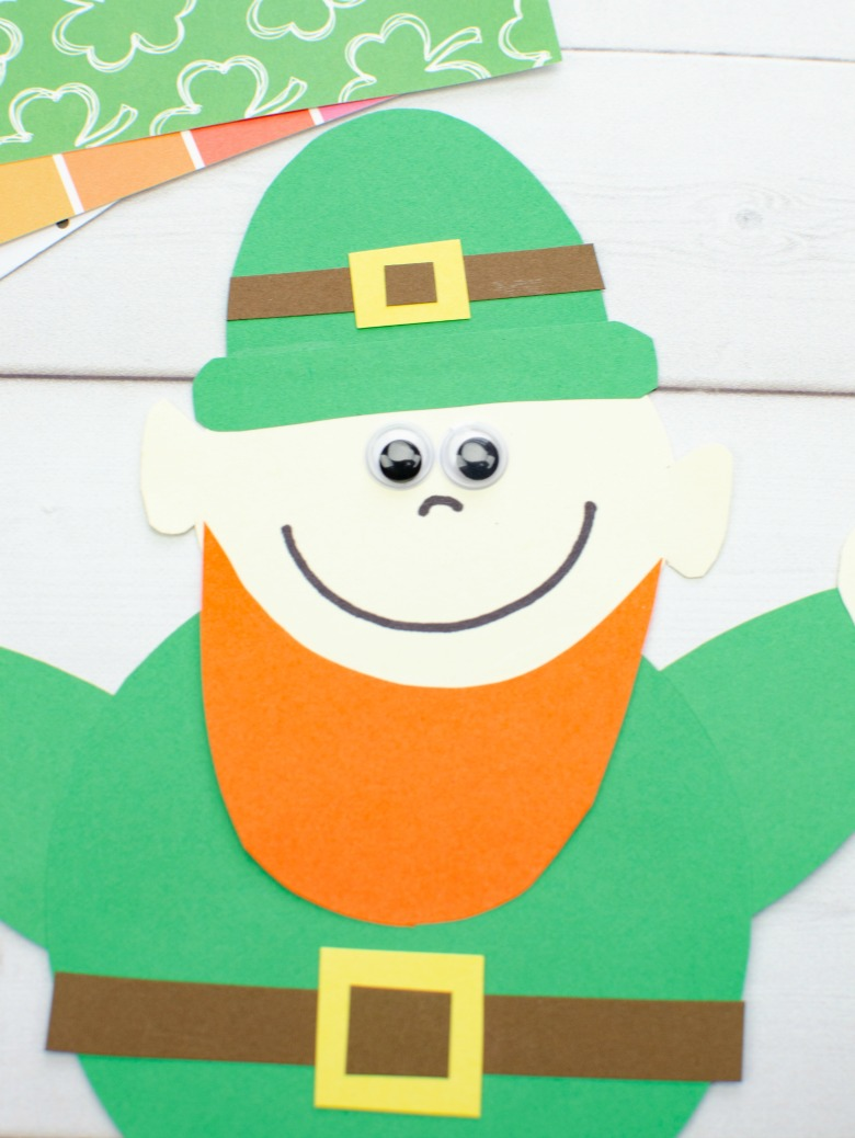 St Patricks Day leprechaun craft for kids