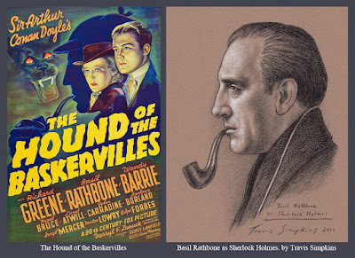 Basil Rathbone as Sherlock Holmes. Actor. Sir Arthur Conan Doyle. The Hound of the Baskervilles. by Travis Simpkins