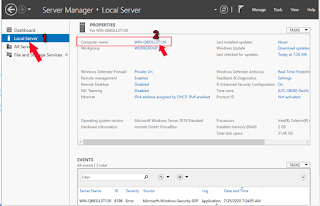 Konfigurasi Windows Server 2019