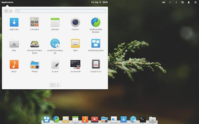 Elemantary OS Desktop