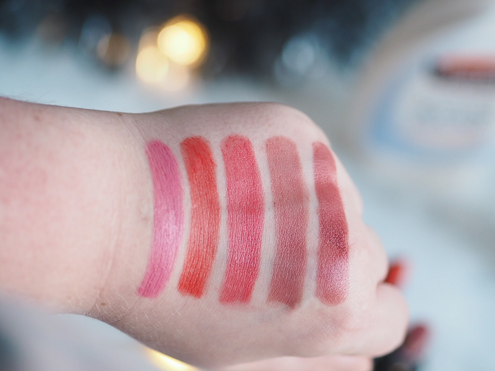Calvin Klein luxury lipsticks swatch