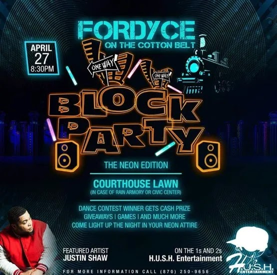 Fordcye plans huge Block Party - The Neon Edition - with dance contest, games and giveaways