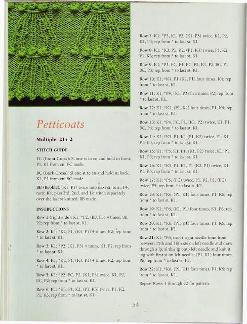 Ponto de Tricô 41 - 50 Fabulous Knit Stitches