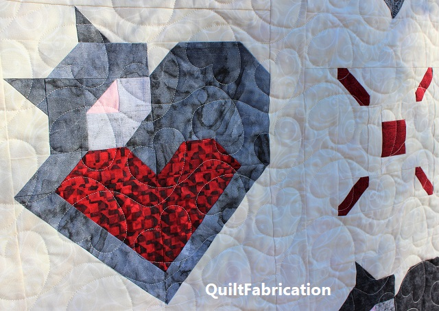 Wrap Up Some Love second cat and heart block by QuiltFabrication