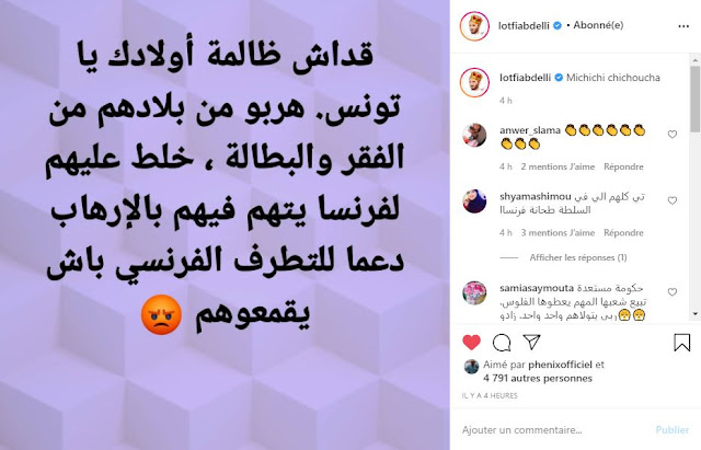 lotfi abdelli instagram clash hichem mechichi