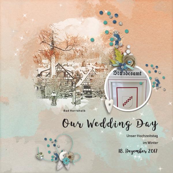 wedding day © sylvia • sro 2018 • hsa templates i heart you #10 by heartstrings scrap art