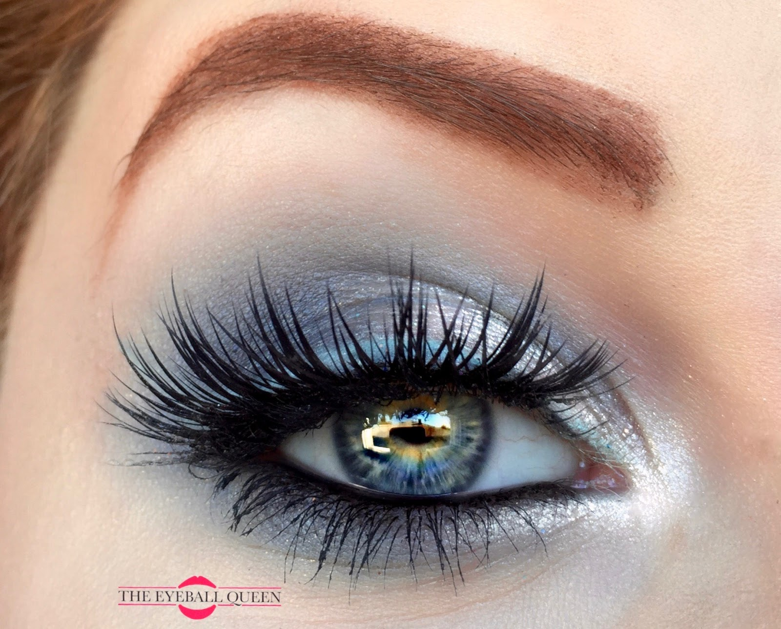 Shimmering Icy Winter Blue & Charcoal Grey Makeup Tutorial